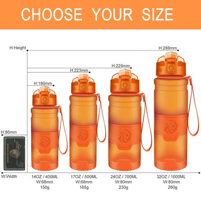 Plastic Water Bottles - 400ml / orange