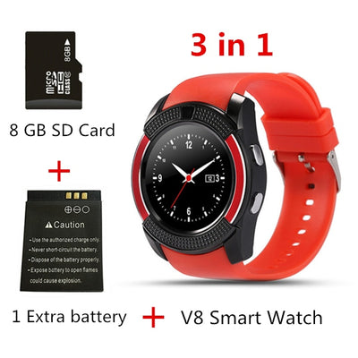 Touch Screen Smart Watch - 3 in 1 red