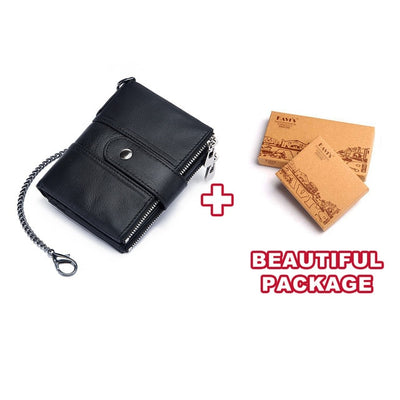 Genuine Leather RFID Wallet - Chain and BOX [201335404] / China