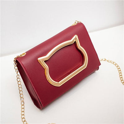 Shoulder Bags - Wine Red / 19x4x14cm