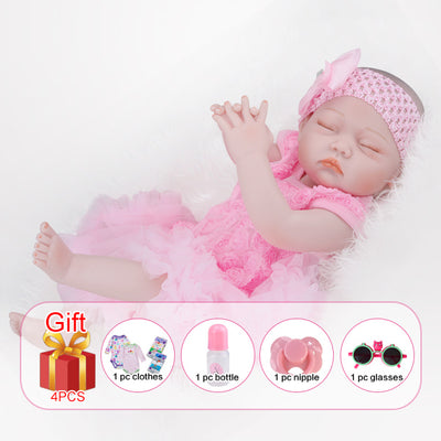 Silicone Reborn Baby Dolls - No hair Girl body