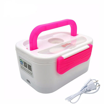 Portable Electric Heating Lunch Box - 220V Pink
