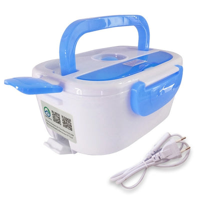Portable Electric Heating Lunch Box - 220V Blue