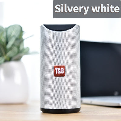 Portable Bluetooth Speaker - Silver white