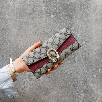 Wallet - wine red