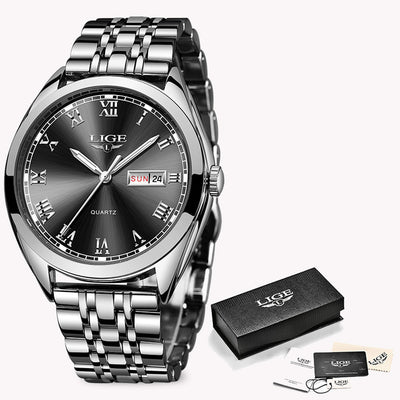Women Watches - Silver Black