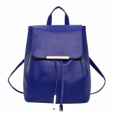 Women PU Leather Backpack - as pic show [100018786] / 12 inches