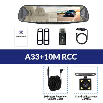 Car Rear View Mirror With Camera - A33-10M RCC / With 8G TF Card