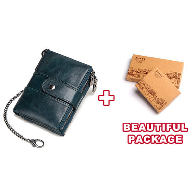 Genuine Leather RFID Wallet - Chain and BOX [200002984] / China