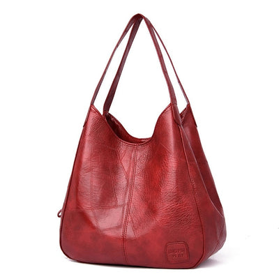 Women Shoulder Bag - WineRed / (30cm<Max Length<50cm)