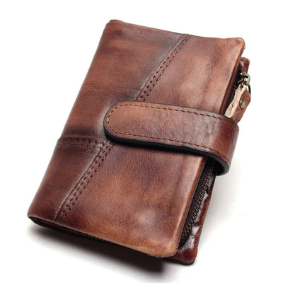 Leather Wallet - coffee