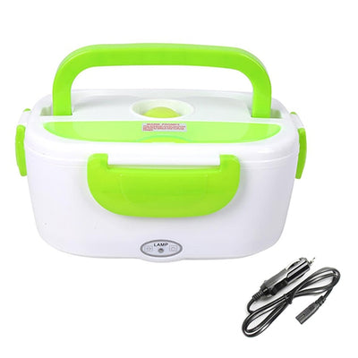 Portable Electric Heating Lunch Box - 12V Green