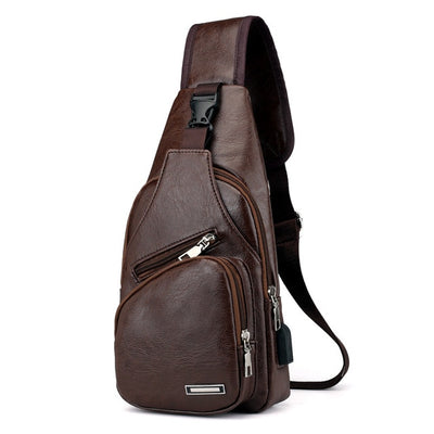 Men's Chest Bag - Dark Brown