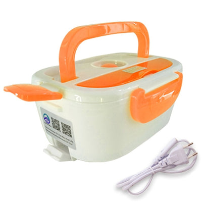 Portable Electric Heating Lunch Box - 220V Orange