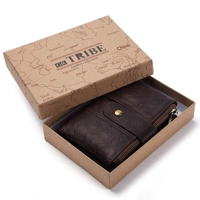 Genuine Leather RFID Wallet - Chain and BOX / China