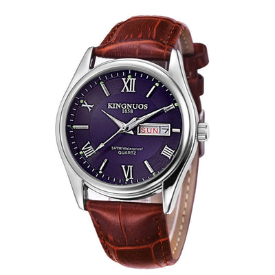 Mens Watches - Brown Leather blue