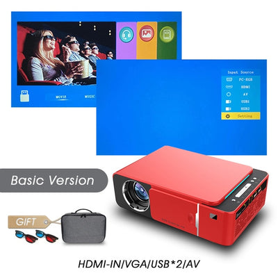 Full HD LED Projector - Basic version-Red