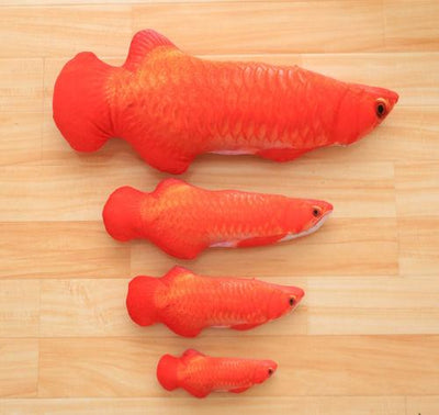 Lifelike Fish Toy for Cats - Red Scleropages / S