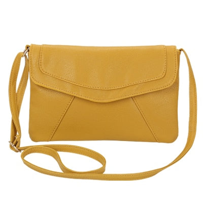 Vintage Leather Crossbody Bags - Yellow