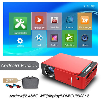 Full HD LED Projector - Android-Red