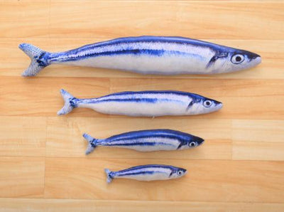 Lifelike Fish Toy for Cats - Pacific Saury / S