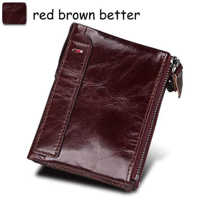 Mens Wallet - red brown better