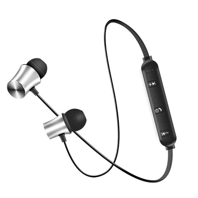 Bluetooth Neckband Earphones - Silver