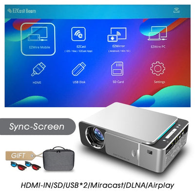 Full HD LED Projector - Sync screen-Silver