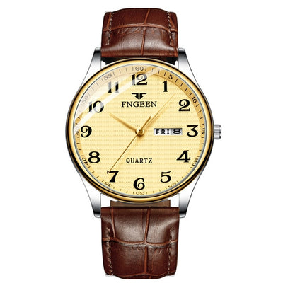Watches for Men - leather gold