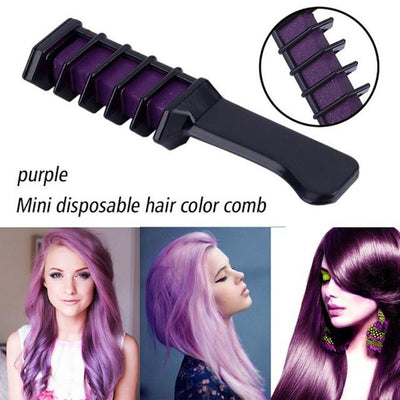 Colorful Hair Dye Comb - Purple