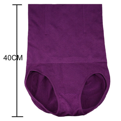 High Waist Slimming Body Shaper - Purple / M L