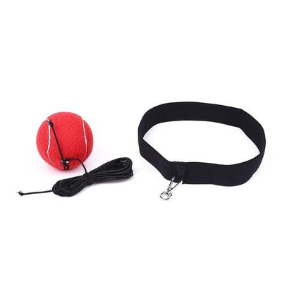 Boxing Reflection Training Speed Ball - red with buckles