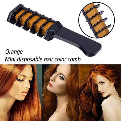 Colorful Hair Dye Comb - Orange