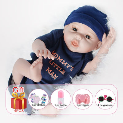 Silicone Reborn Baby Dolls - With hair boy body