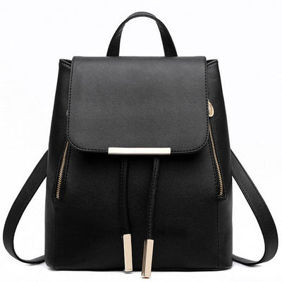 Women PU Leather Backpack - as pic show / 12 inches