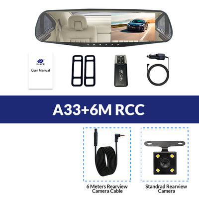 Car Rear View Mirror With Camera - A33-6M RCC / With 8G TF Card