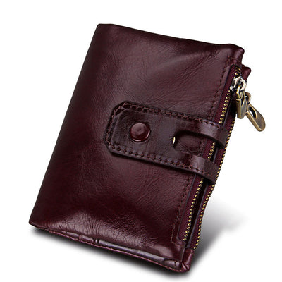 Leather Wallets for Women - red brown