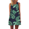 Sleeveless Summer Dress - black green / S