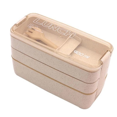 Lunch Box - Wheat color / 900ml / 3