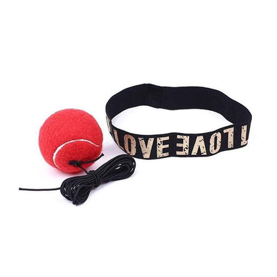 Boxing Reflection Training Speed Ball - red without buckles
