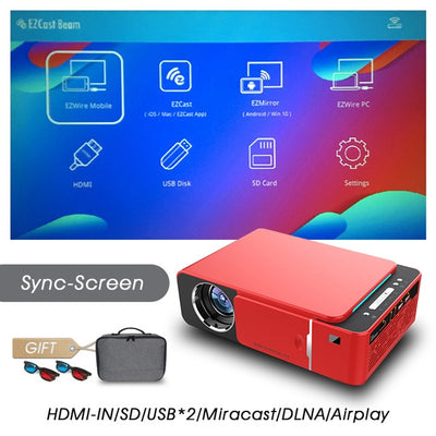Full HD LED Projector - Sync screen-Red