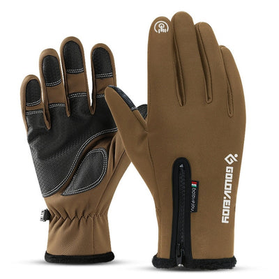 Waterproof Winter Leather Gloves - Desert Gloves / S Palm Width 6-6.5CM
