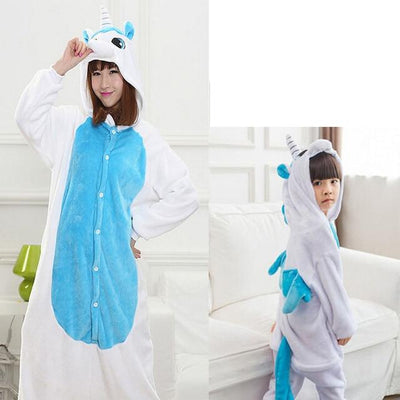 Animals Costume - Blue unicorn / S / Animal pajamas