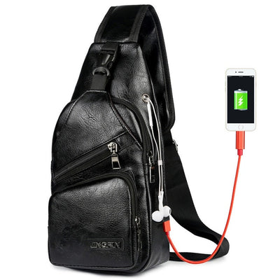 Men's Chest Bag - 22 Black