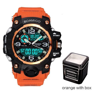 Men Sports Watches - orange with box