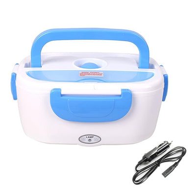 Portable Electric Heating Lunch Box - 12V Blue