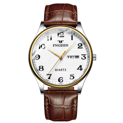 Watches for Men - leather white