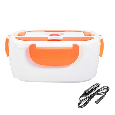 Portable Electric Heating Lunch Box - 12V Orange