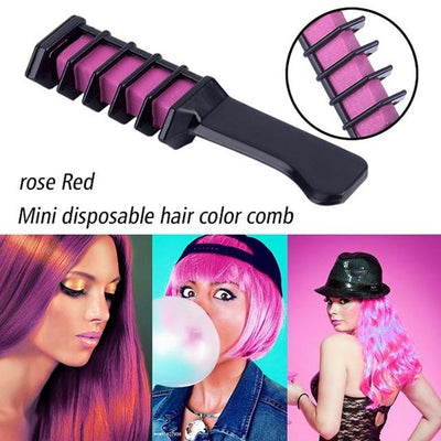 Colorful Hair Dye Comb - Rose Pink