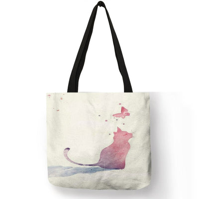 painted tote bag - 008